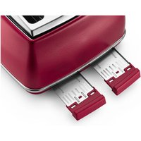 Buy Delonghi CTOE4003 RD Icona Elements 4 Slice Toaster in Red Extra Lift - Sonic Direct
