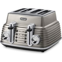 Buy Delonghi CTZ4003 BG ICONA Scultura 4 Slice Toaster Champagne Gloss - Sonic Direct