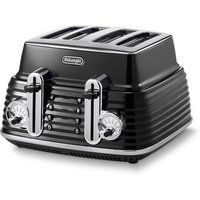 Buy Delonghi CTZ4003 BK ICONA Scultura 4 Slice Toaster Black High Gloss - Sonic Direct