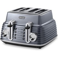 Buy Delonghi CTZ4003 GY ICONA Scultura 4 Slice Toaster Gun Metal Gloss - Sonic Direct