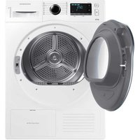 'Samsung Dv80k6010cw 8kg Heat Pump Condenser Tumble Dryer In White A