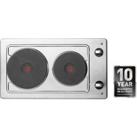 Hotpoint E320SKIX 30cm Built In Domino Electric Hob in Stainless Steel