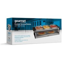 Gourmet GHBS001 Hostess Serving Station with Plate Warmer