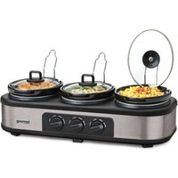 'Gourmet Gtsc003 Triple Slow Cooker Server Warming Station