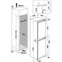 Hotpoint HBC185050F1 Integrated Frost Free Fridge Freezer 1 77m F Rate