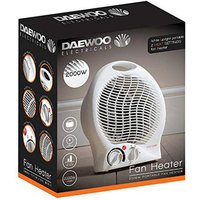 Daewoo HEA1138GE 2 0kW Upright Fan Heater with Thermostat