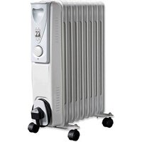 Daewoo HEA1141GE 2 0kW Oil Filled Radiator in White 3 Heat Settings