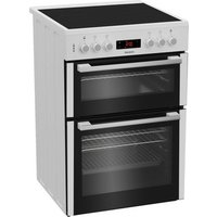 Blomberg HKN65W 60cm Electric Cooker in White Ceramic Hob Double Oven
