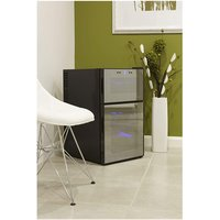 Husky HN7 Reflections Dual Zone Drinks Cooler in Black 24x 75cl
