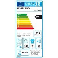Whirlpool HSCX90423 Supreme Care Heat Pump Tumble Dryer 9kg in White