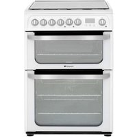 Hotpoint HUD61PS 60cm ULTIMA Dual Fuel Cooker in White Double Oven