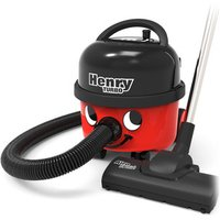 Numatic HVT160 Henry Turbo Cylinder Vacuum Cleaner in Red Bagged