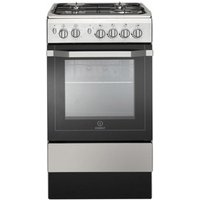 Indesit I5GG1S 50cm Single Cavity Gas Cooker in Silver FSD