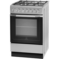 Indesit I5GSH1S 50cm Single Cavity Dual Fuel Cooker in Silver B Rated