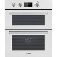 Indesit IDU6340WH 60cm Built Under Double Electric Fan Oven in White