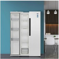 'Iceking Ik436w American Style Fridge Freezer In White 1 78m A Rated
