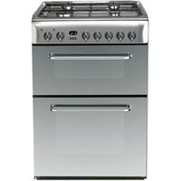 Indesit KDP60SES 60cm ADVANCE Dual Fuel Cooker in St Steel B Rated