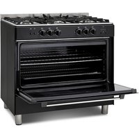 Montpellier MR91GOK 90cm Single Cavity Gas Range Cooker in Black