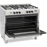Montpellier MR91GOX 90cm Single Cavity Gas Range Cooker in St Steel