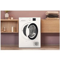 'Hotpoint Ntm1081wk 8kg Heat Pump Condenser Tumble Dryer In White A Rat