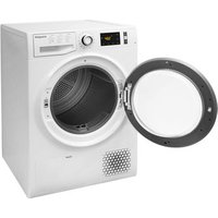'Hotpoint Ntm1182xb 8kg Heat Pump Condenser Tumble Dryer In White A Rat