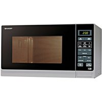 Sharp R372SLM Microwave Oven in Silver 25L 900W Touch Control