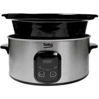 Beko SCM3622X 6 Litre Slow Cooker in Stainless Steel LED Display