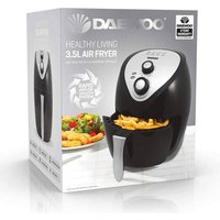 Daewoo SDA1553 3 5 Litre Health Air Fryer in Black 1400W