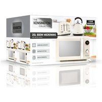 'Daewoo Sda1654ge Kensington Microwave Oven In Cream 20l 800w