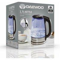 Daewoo SDA1669 1 7 Litre Illuminated Glass Kettle 2 2 kW