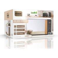 'Daewoo Sda1698ge Skandik Microwave Oven In Black 20l 800w