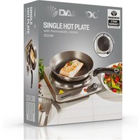 Daewoo SDA1731 Single Solid Plate Table Top Hob in Stainless Steel