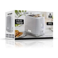 Daewoo SDA1781GE ARGYLE 2 Slice Patterned Toaster in White