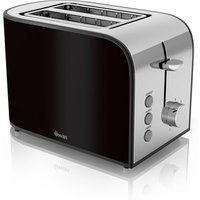 Buy Swan ST17020BLKN 2 Slice Townhouse Toaster in Black Chrome - Sonic Direct