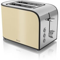 Buy Swan ST17020CREN 2 Slice Townhouse Toaster in Cream Chrome - Sonic Direct