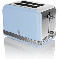 Buy Swan ST19010BLN 2 Slice Retro Style Toaster in Blue Chrome - Sonic Direct