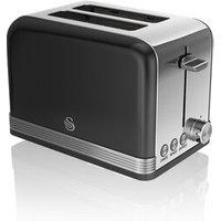 Buy Swan ST19010BN 2 Slice Retro Style Toaster in Black Chrome - Sonic Direct