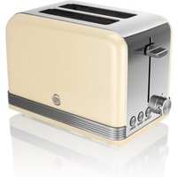 Buy Swan ST19010CN 2 Slice Retro Style Toaster in Cream Chrome - Sonic Direct