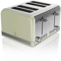 Buy Swan ST19020GN 4 Slice Retro Style Toaster in Green Chrome - Sonic Direct