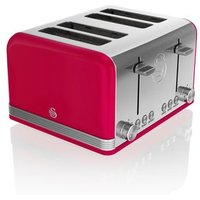 Buy Swan ST19020RN 4 Slice Retro Style Toaster in Red Chrome - Sonic Direct