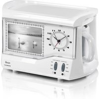 Swan STM202N Vintage Teasmade with Clock Alarm in White 600mL