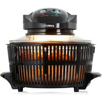 Tower T14001HT Halogen Low Fat Air Fryer in Black 17 Litre 1300W