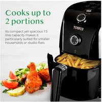'Tower T17025 1 5 Litre Health Air Fryer In Black 900w