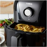 Tower T17062 Health Air Fryer in Black 3 Litre 1000W