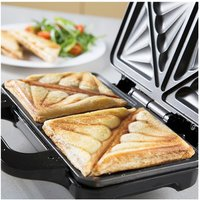 Tower T27013 Deep Fill Sandwich Maker in Black Silver