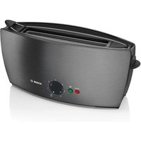 Buy Bosch TAT6805GB 2 Slice Long Slot Stainless Steel Toaster in Anthracit - Sonic Direct