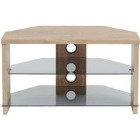 'Ttap Tvs1003 Montreal 800mm Tv Stand In Light Oak With Tinted Glass