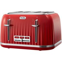 Buy Breville VTT783 Impressions Collection 4 Slice Toaster in Red - Sonic Direct