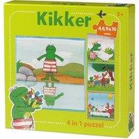 De wereld van Kikker 4 in 1 puzzel