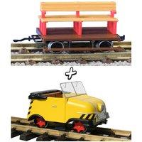 KRES 88055 H0 BS Schienentrabbi / 2achs. Anhänger